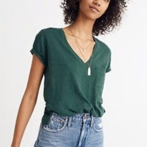Madewell Whisper Cotton V-Neck Pocket Tee Small